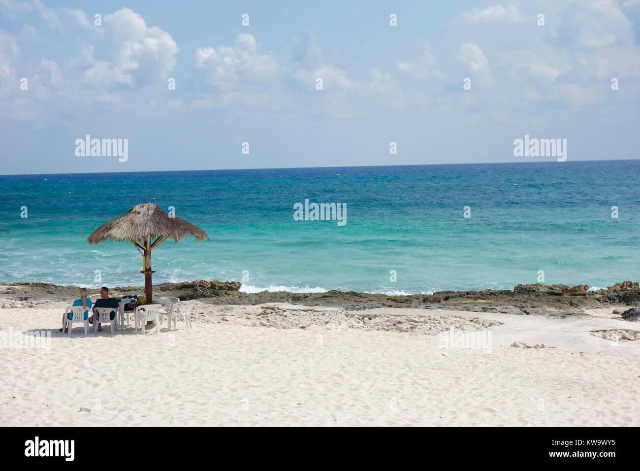 Playa San Martin, Cozumel Mexico. - Stock Image