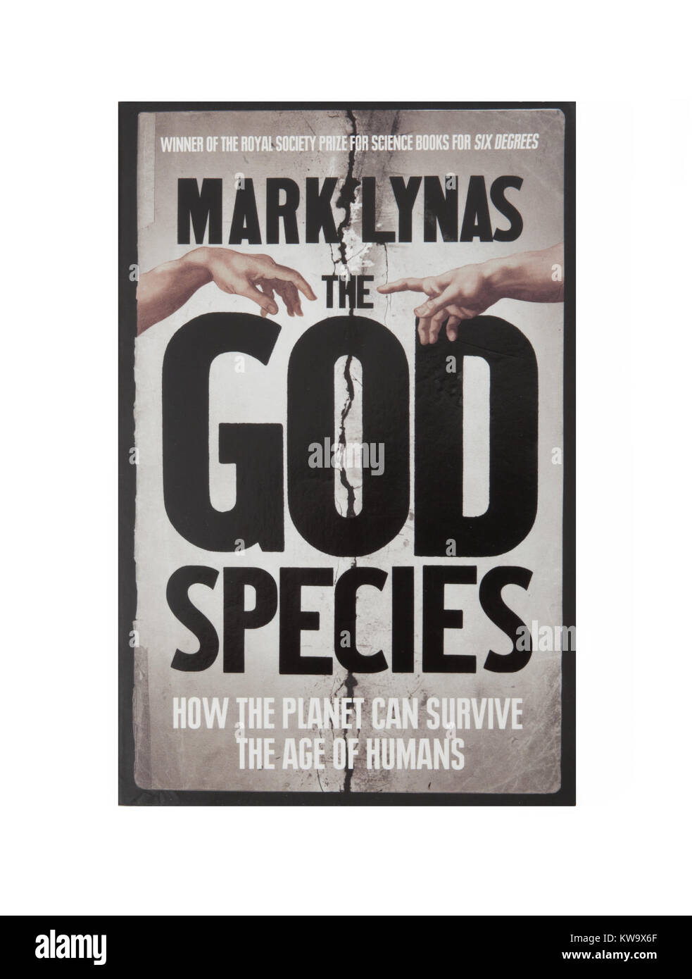 The book, The God Species - How the Planet Can Survive the Age of Humans by Mark Lynas - Stock Image