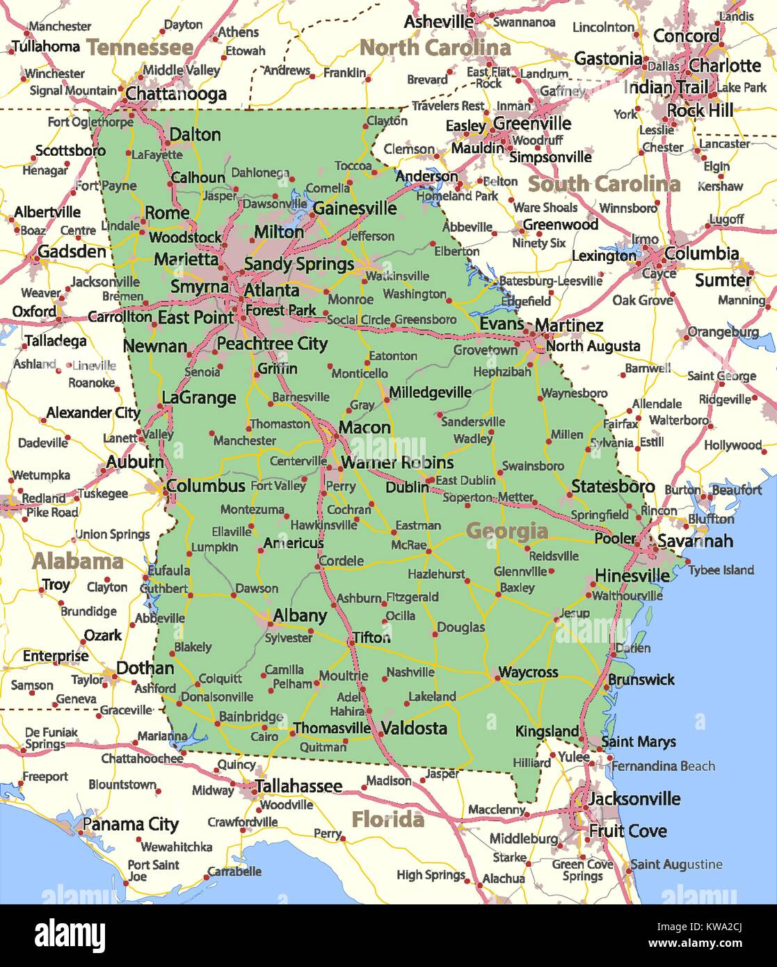 Map of Georgia. Shows country borders, urban areas, place ... Show Map Of Georgia on big printable maps of georgia, art map of georgia, map of i 75 through georgia, driving map of georgia, full map of georgia, usa of georgia, detail map of georgia, map of north georgia, show map kansas, snow map of georgia, wma hunting areas in georgia, model map of georgia, show map south carolina, large map of georgia, casinos in north georgia, elevation topographic map of georgia, blue map of georgia, map of military bases in georgia, show map florida, land features of georgia,