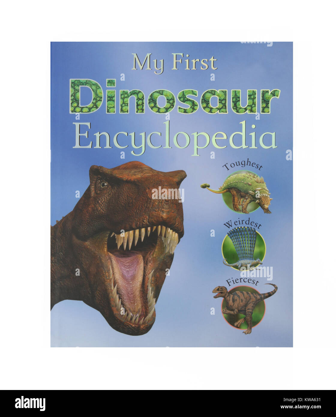 The book, My First Dinosaur Encyclopedia - Stock Image