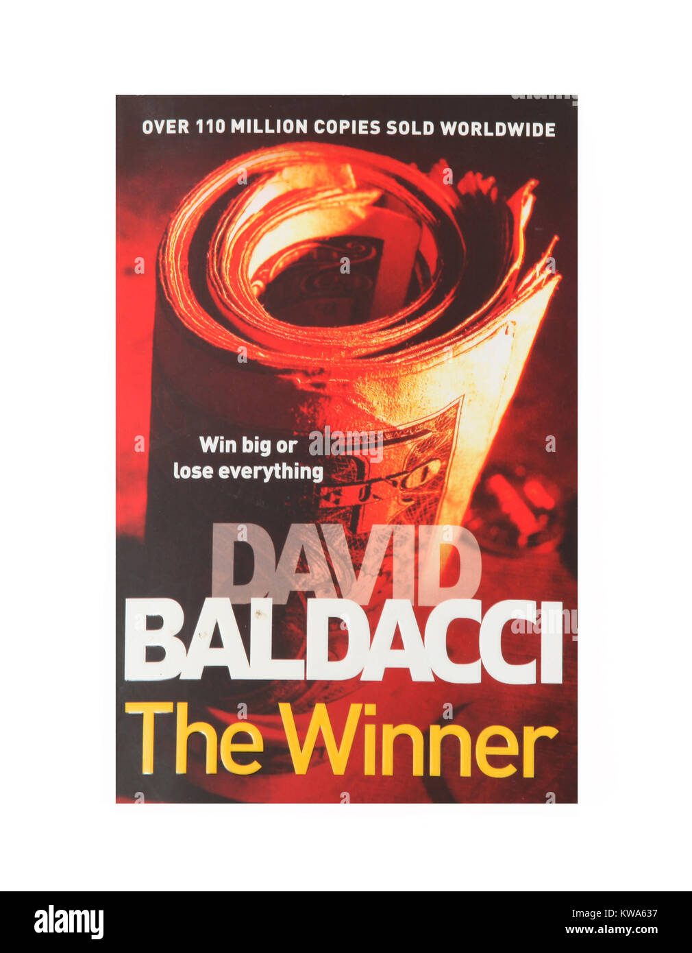 The book, The Winner by David Baldacci - Stock Image