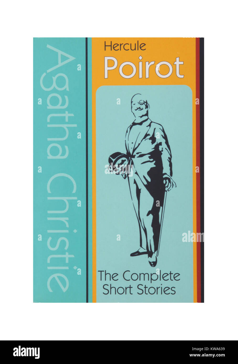 The book, Poirot by Agatha Christie - Stock Image