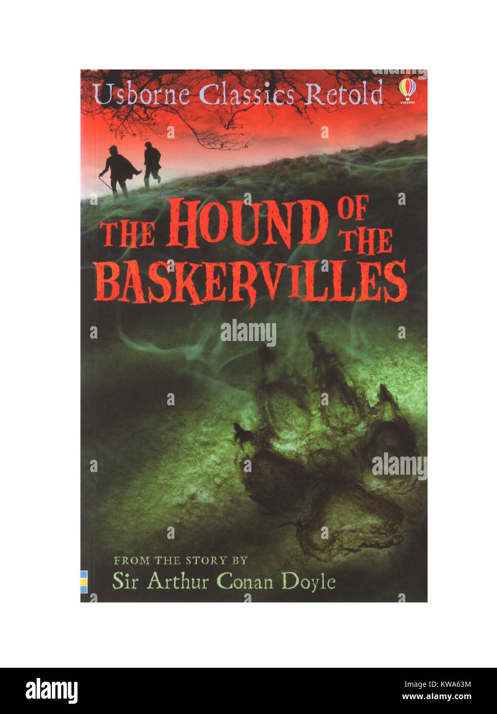 The book, The Hounds of the Baskervilles by Sir Arthur Conan Doyle - Stock Image