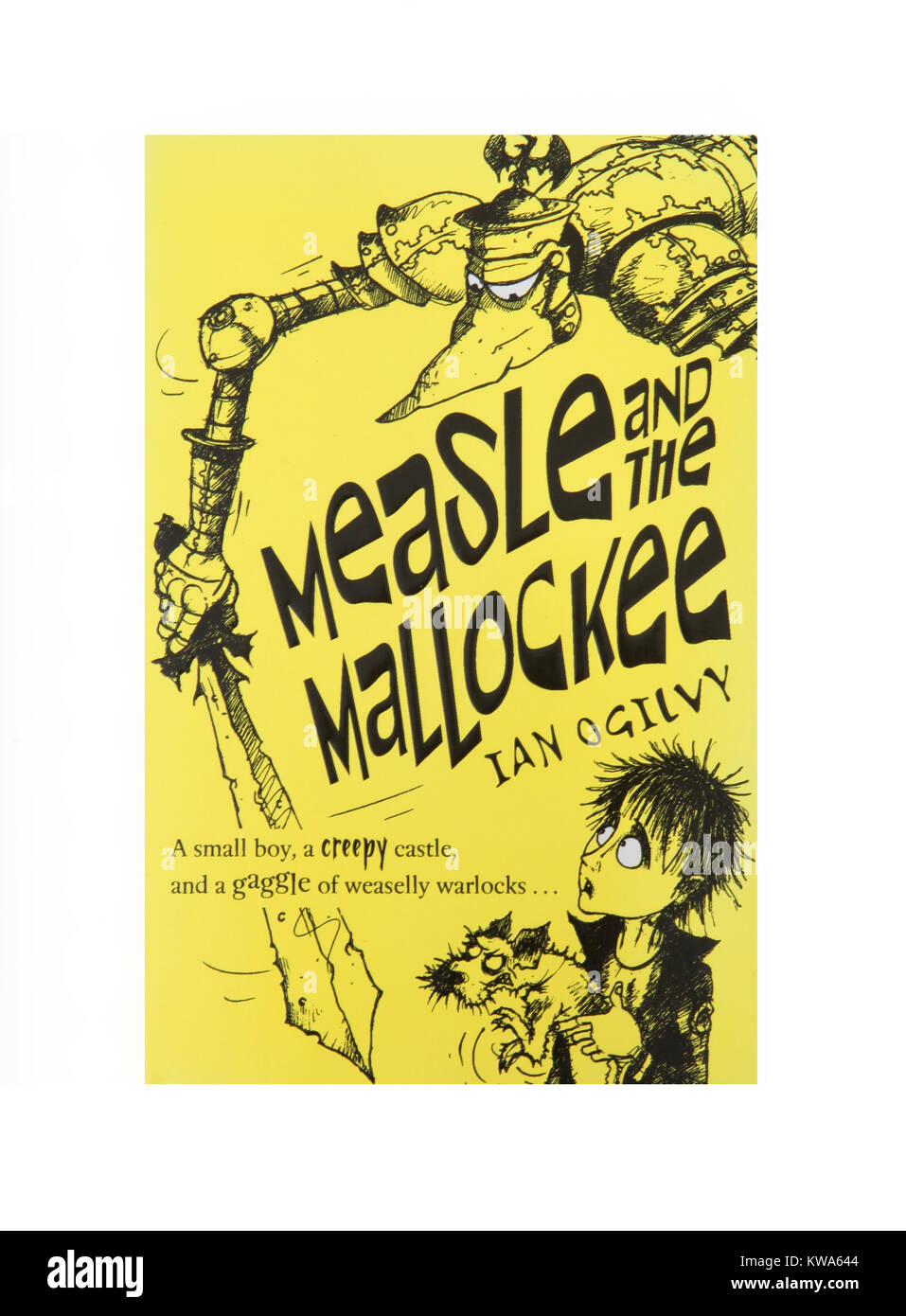 The book Measle and the Mallockee by Ian Ogilvy - Stock Image