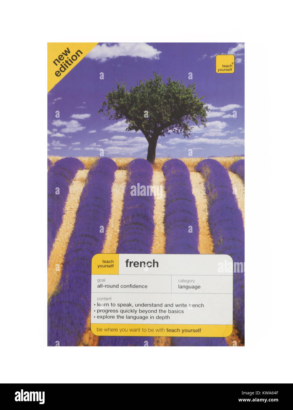 A teach yourself French Language book - Stock Image
