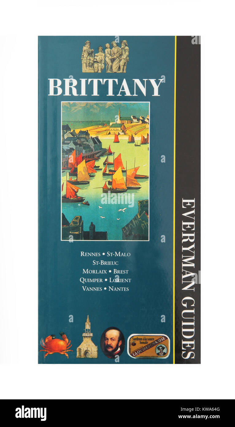 A travel guide to Brittany by Everyman Guides - Stock Image