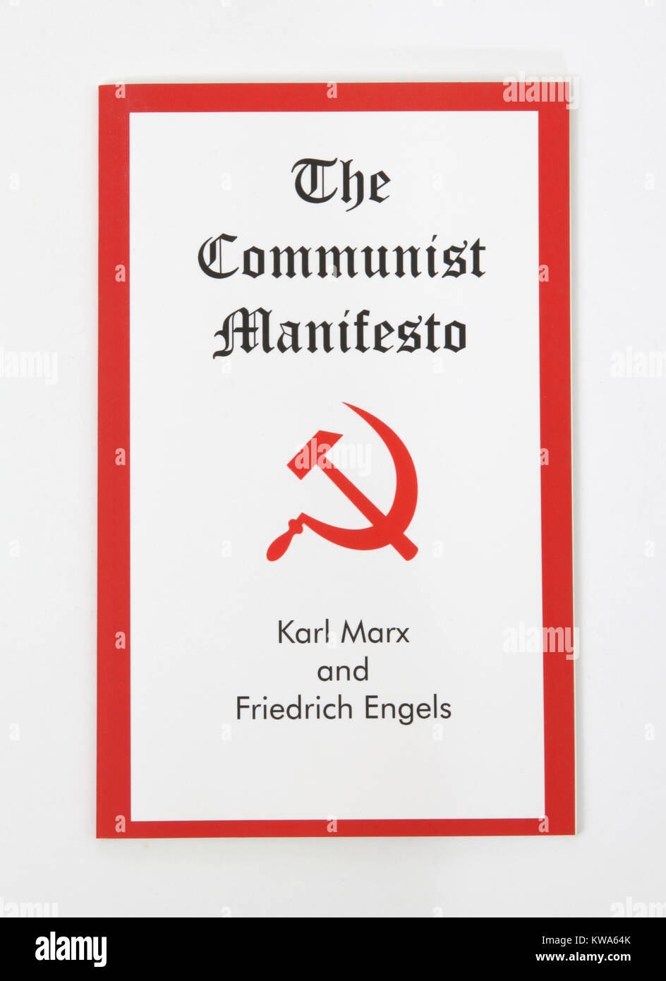 The Communist Manifesto by Karl Marx and Friedrich Engels - Stock Image