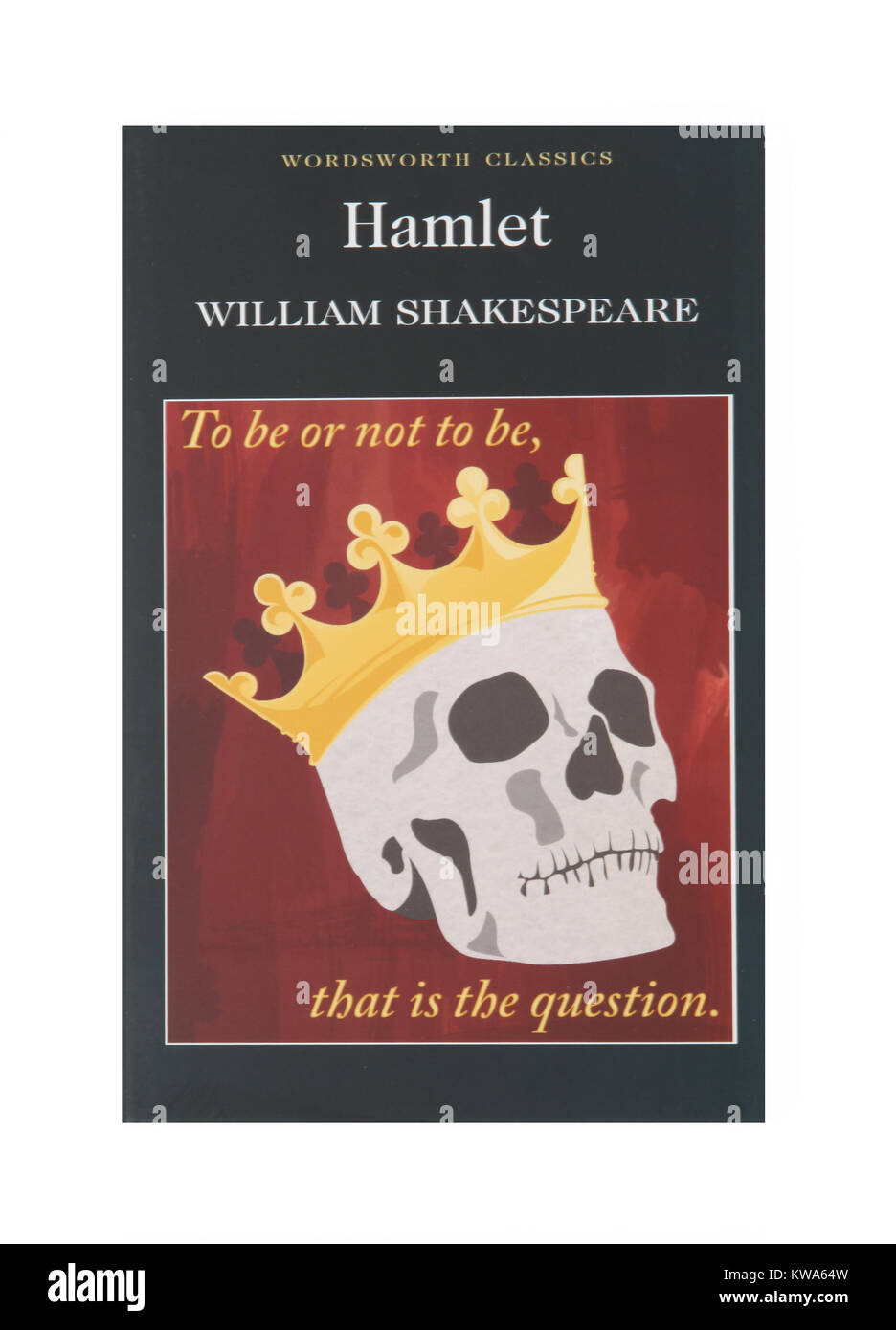 The book of the play Hamlet, by William Shakespeare - Stock Image