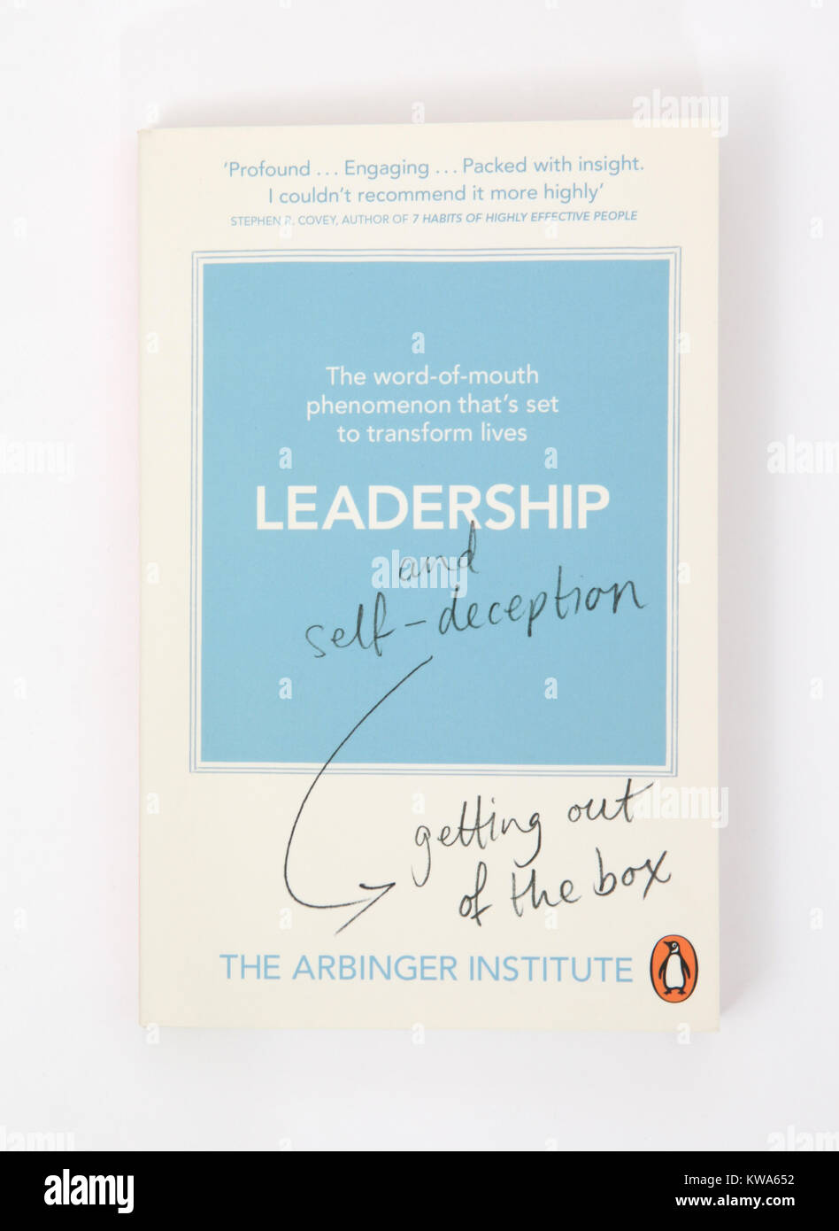 The book, Leadership and self-deception getting out of the box by The Arbinger Institute. - Stock Image