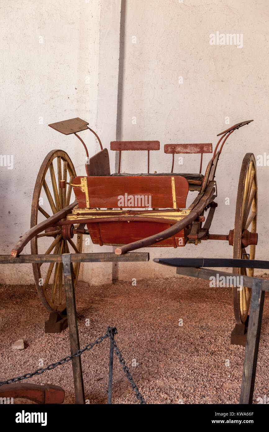 Old Chariot in Vineyard in Mendoza Argentina Stock Photo