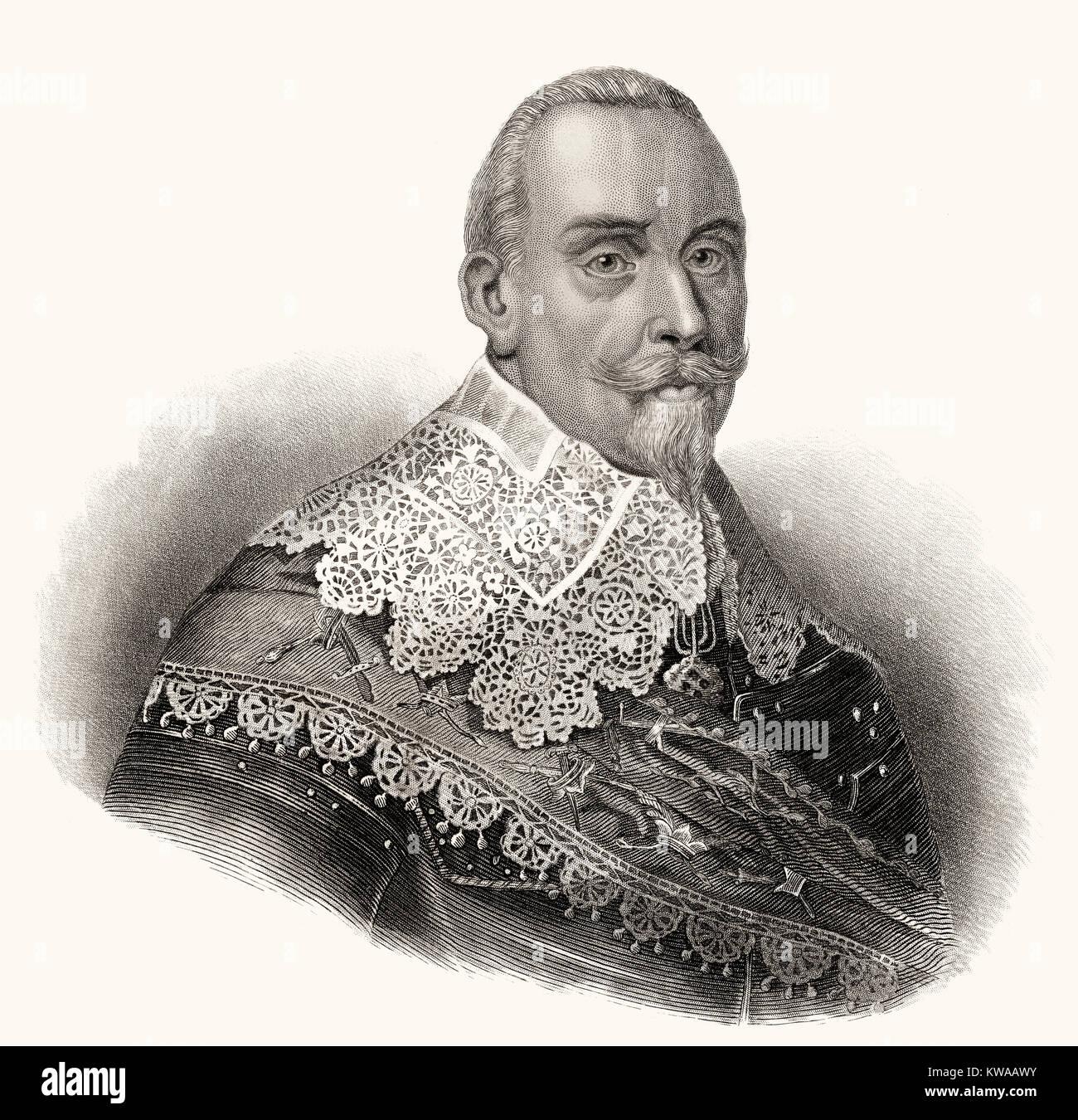 Gustav II Adolf, 1594 - 1632, King of Sweden from the ruling family of Vasa - Stock Image