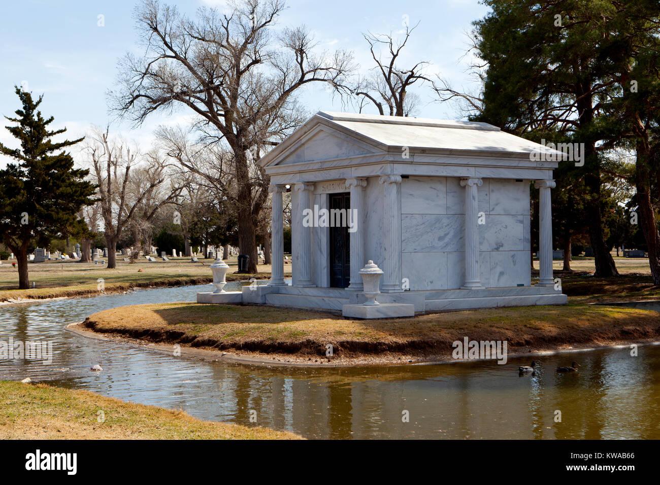Llano Cemetery, Amarrilo, Texas. - Stock Image