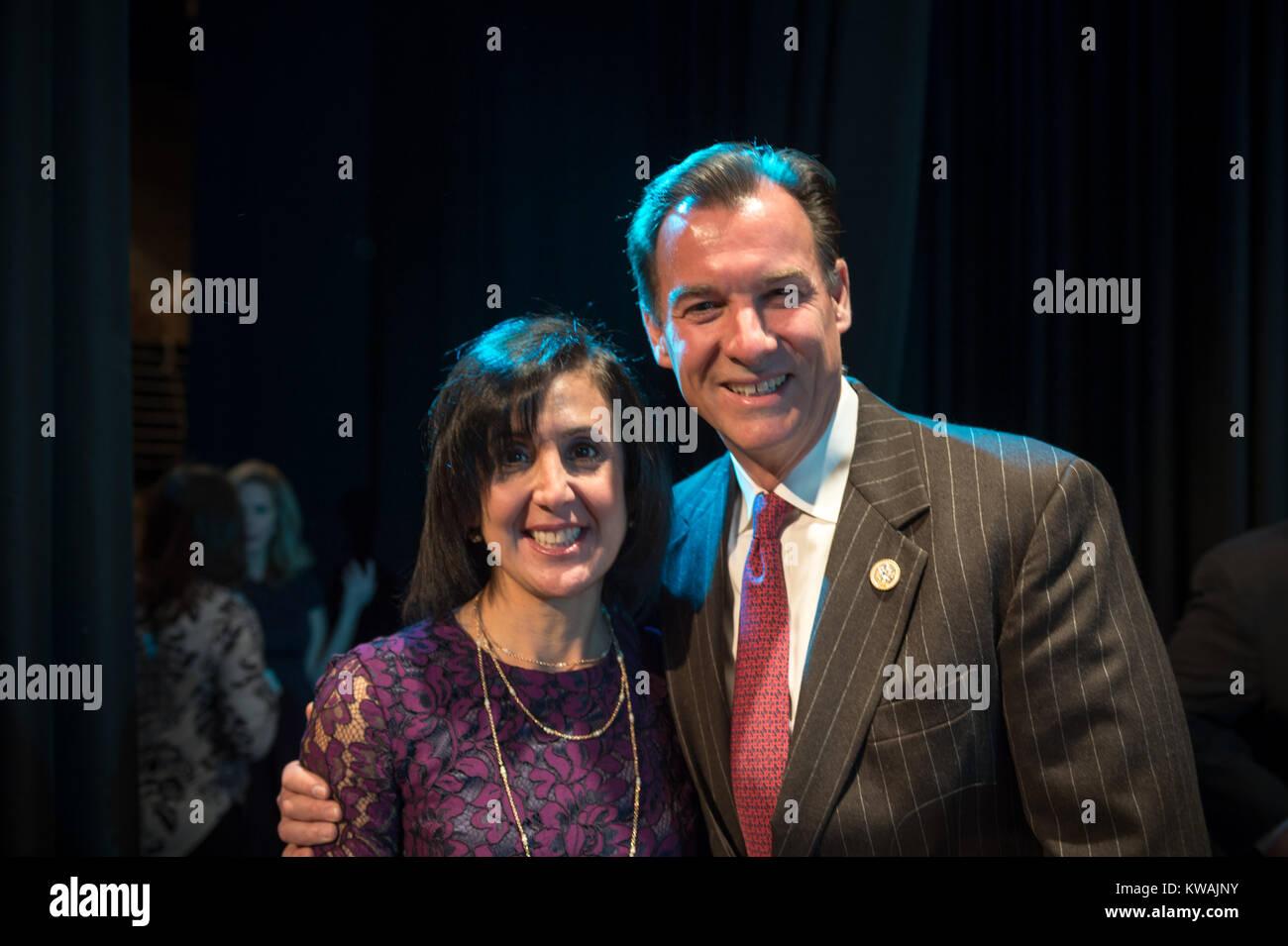 Hempstead, New York, USA. 1st Jan, 2018. Hempstead, New York, USA. January 1, 2018. L-R, SYLVIA CABANA and New York Stock Photo