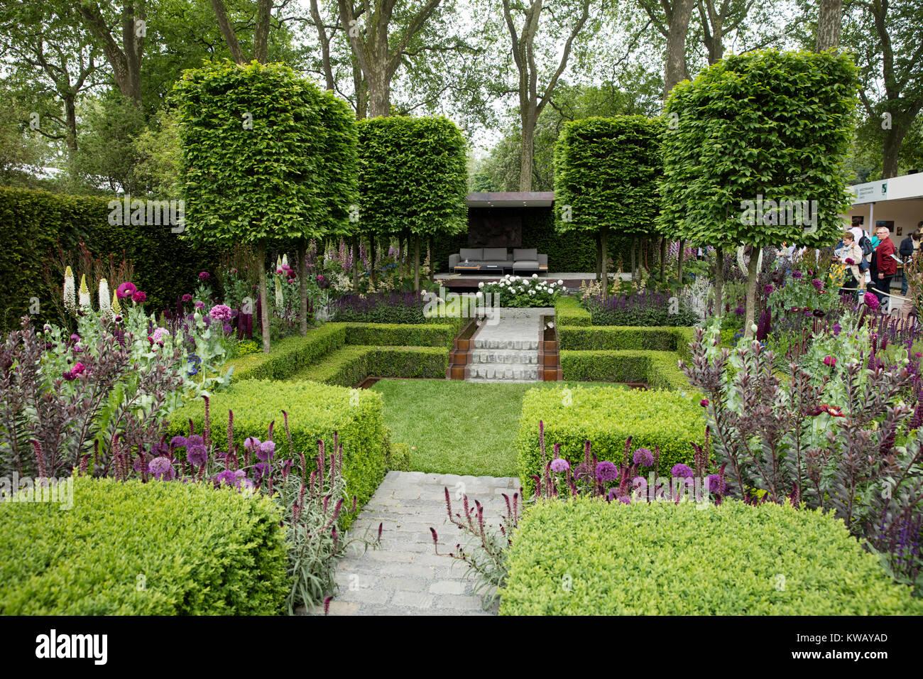 The Husqvarna Garden by Charlie Albone, RHS Chelsea Flower Show 2016, Chelsea, London, UK - May 2016 - Stock Image