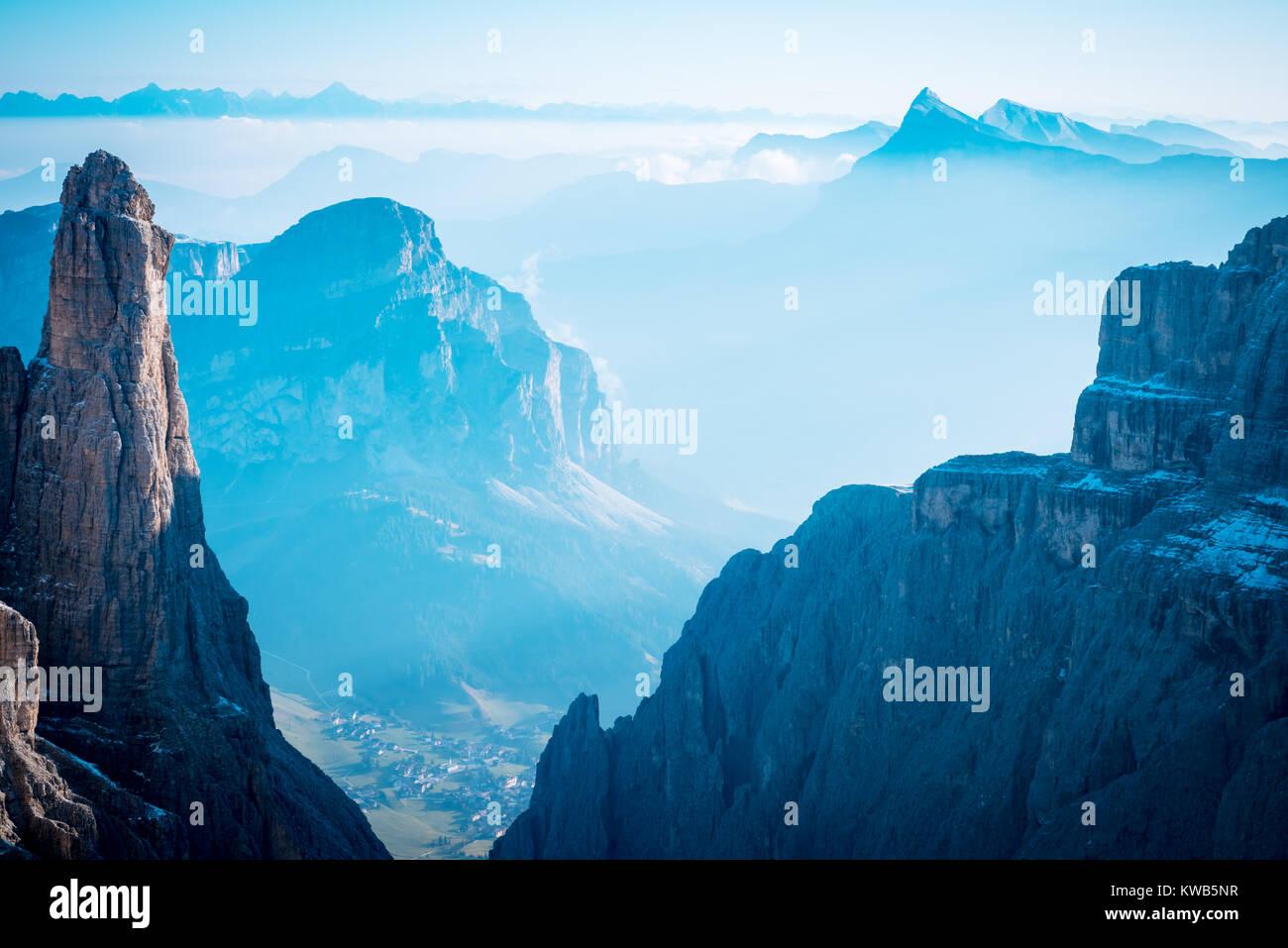 mountains Sella Ronda Dolomites Italy - Stock Image