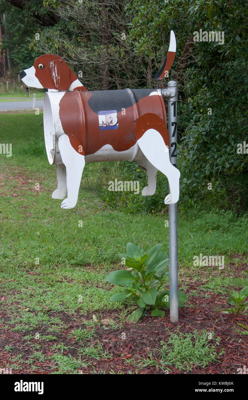 Roadside mailbox at a pet-friendly caravan park in South Gippsland