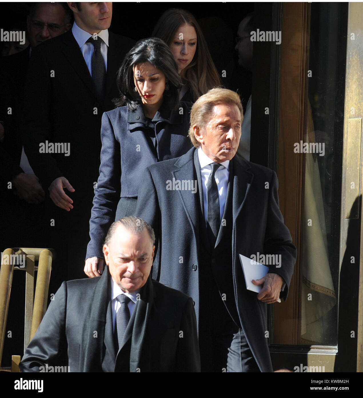 New York Ny November 03 Valentino Arrive At The Funeral Of Stock Photo Alamy