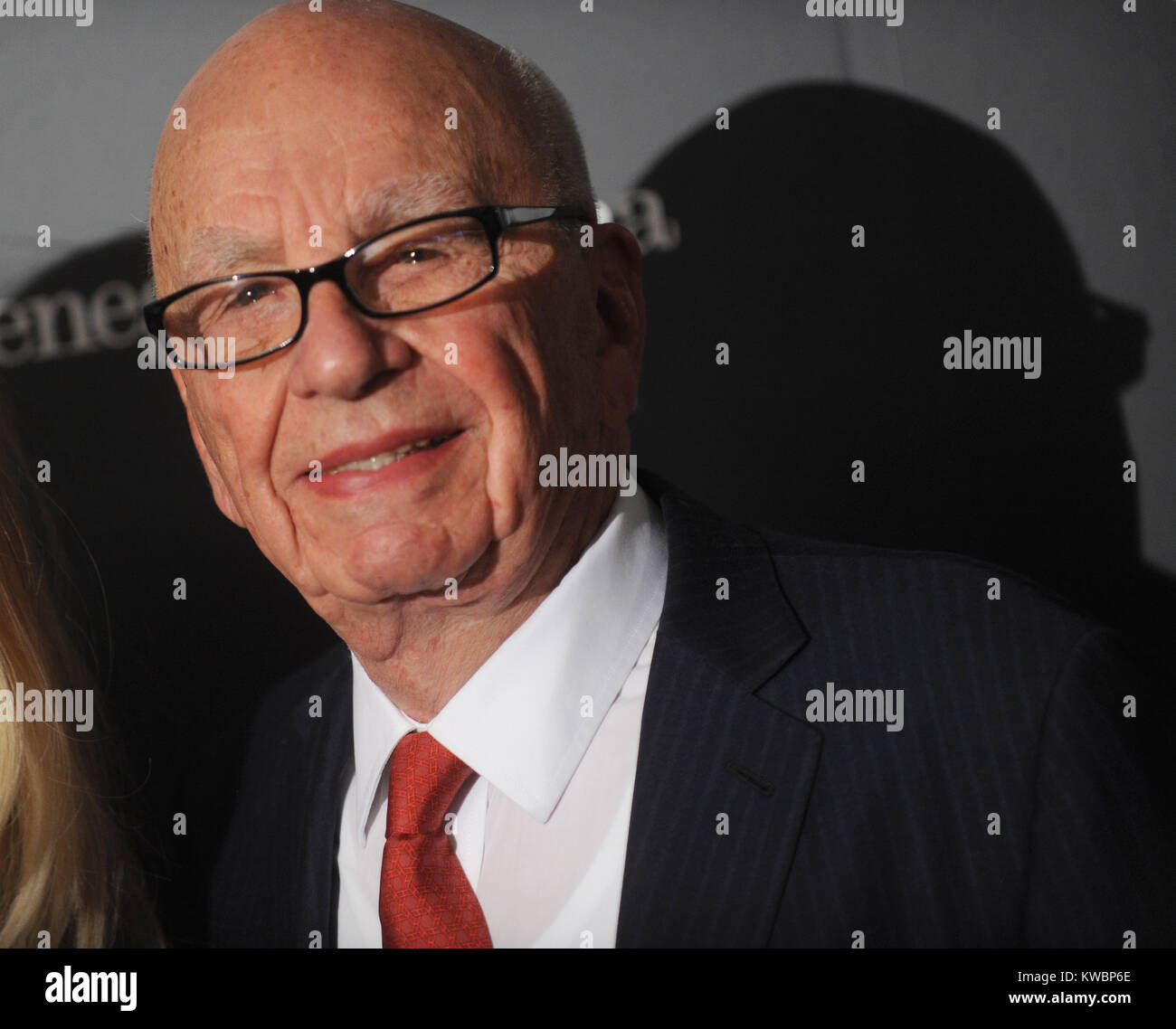 NEW YORK, NY - NOVEMBER 05: Rupert Murdoch  attends WSJ. Magazine's 'Innovator Of The Year' Awards at - Stock Image