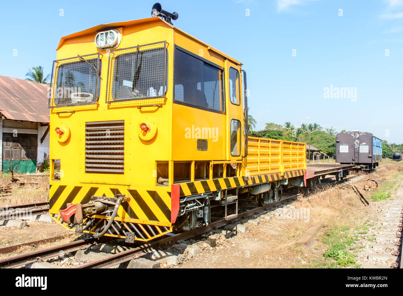 small train head, it is mainly used to joint carriages, attach to a train - Stock Image