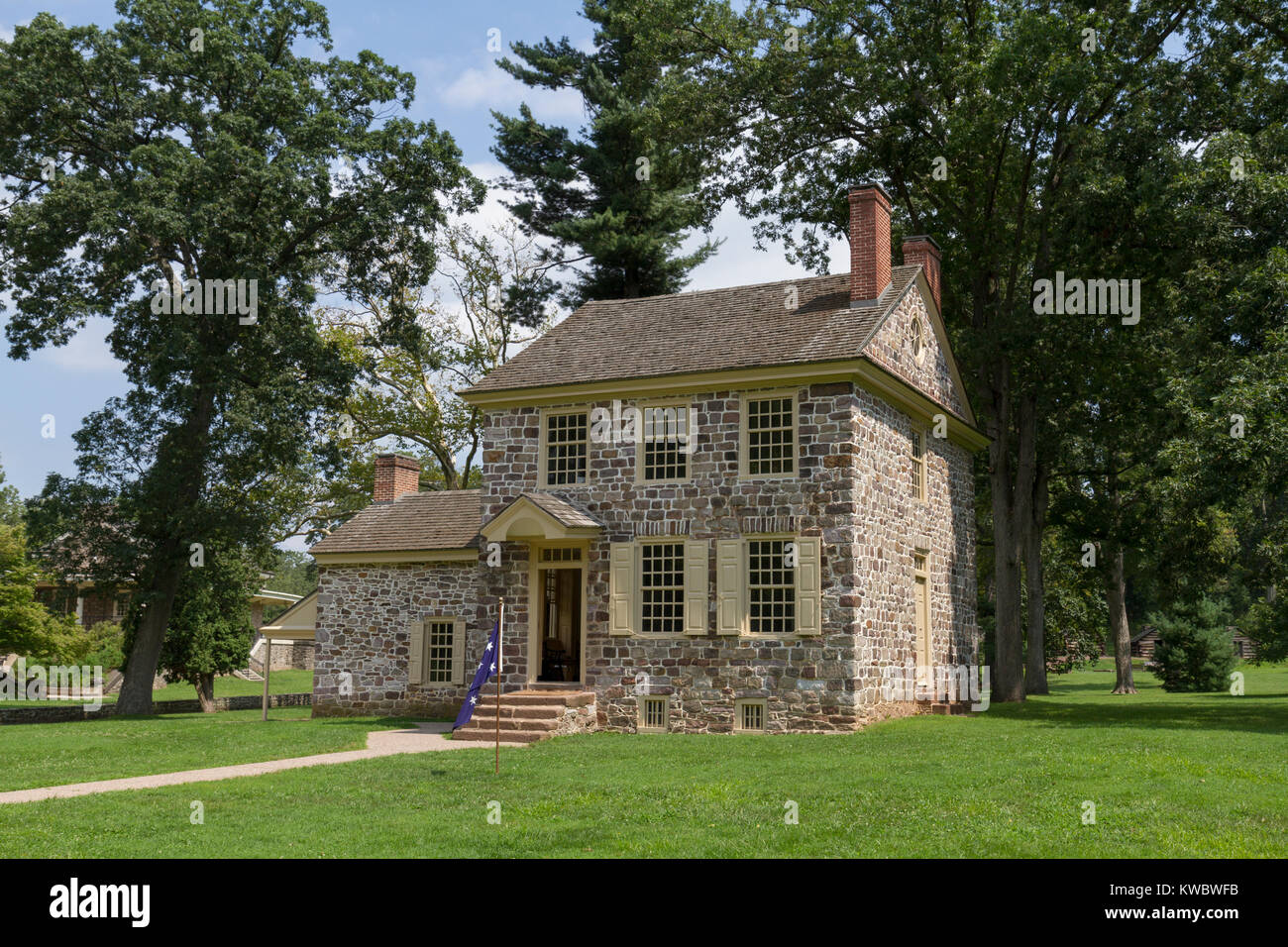 General Washington's Headquarters (Isaac Potts House), Valley Forge National Historical Park, Valley Forge, - Stock Image