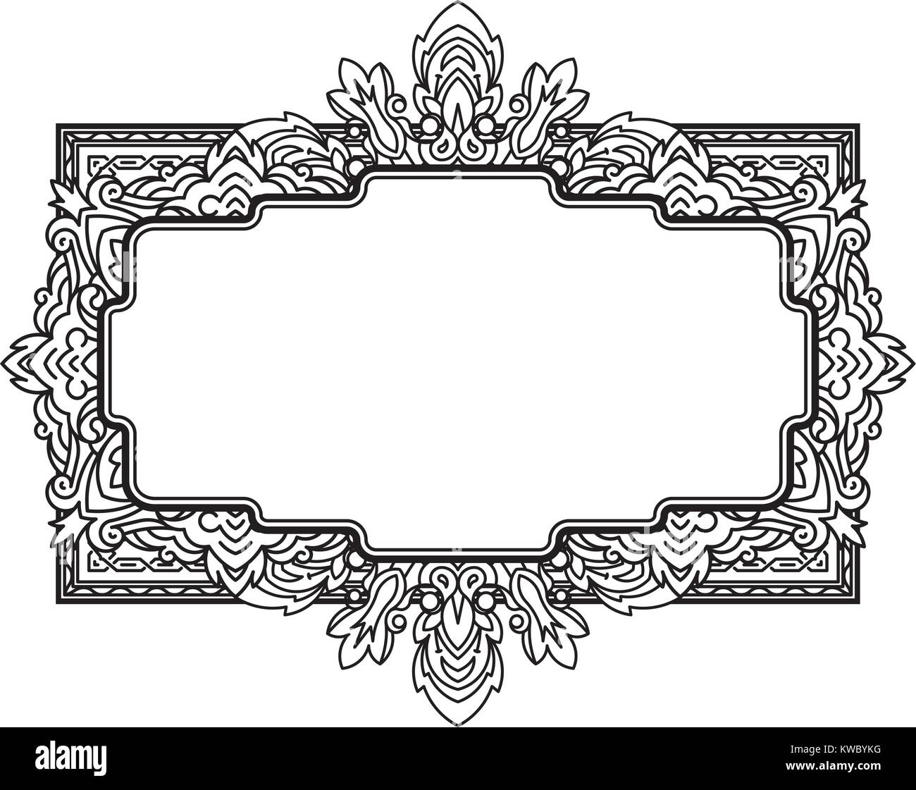 Ethnic template for design wedding invitations and greeting cards ethnic template for design wedding invitations and greeting cards henna flowers mehndi elements of vintage patterns indian or asian motif vector il stopboris Gallery