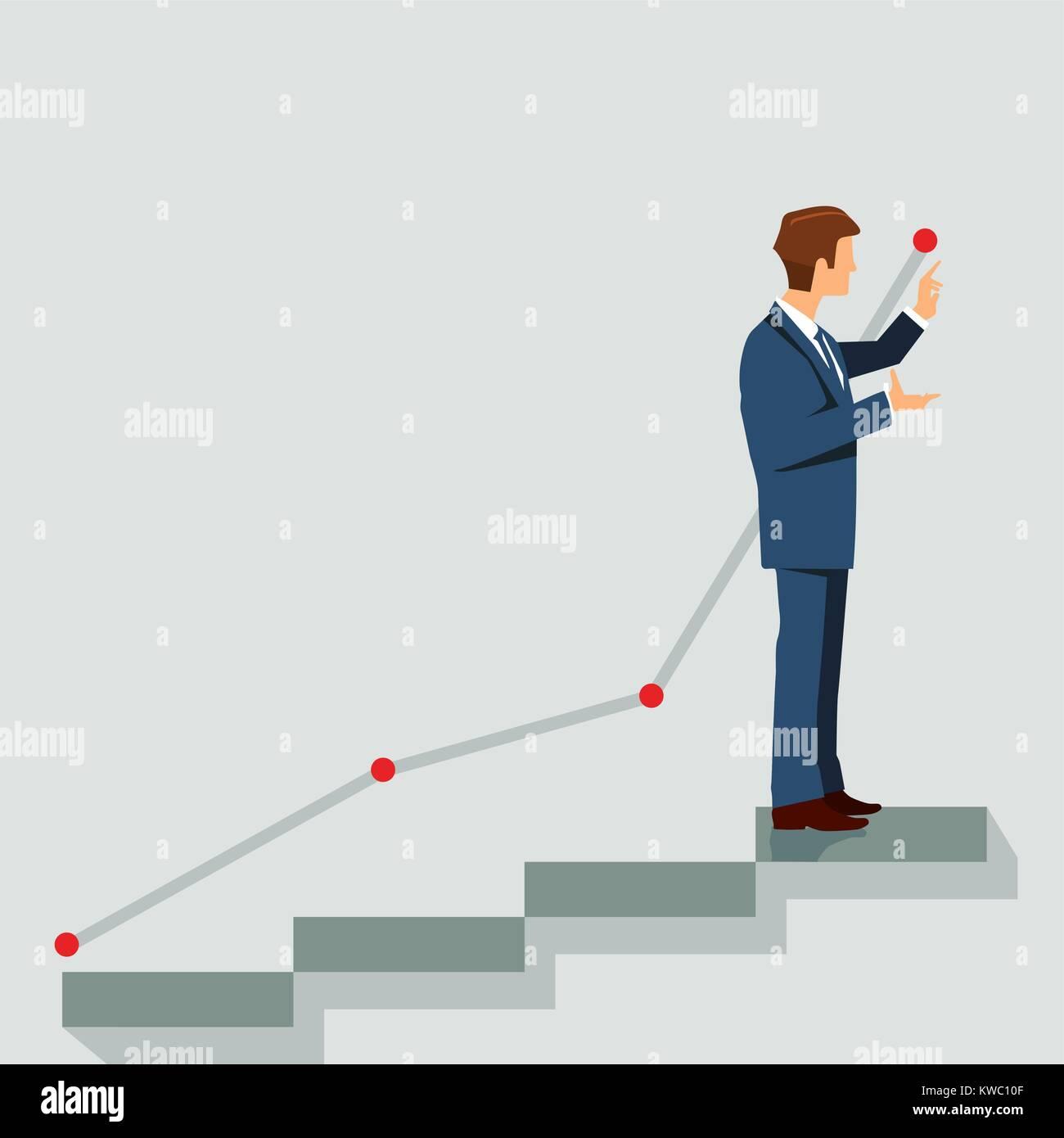 Career plan, symbol illustration - Stock Vector
