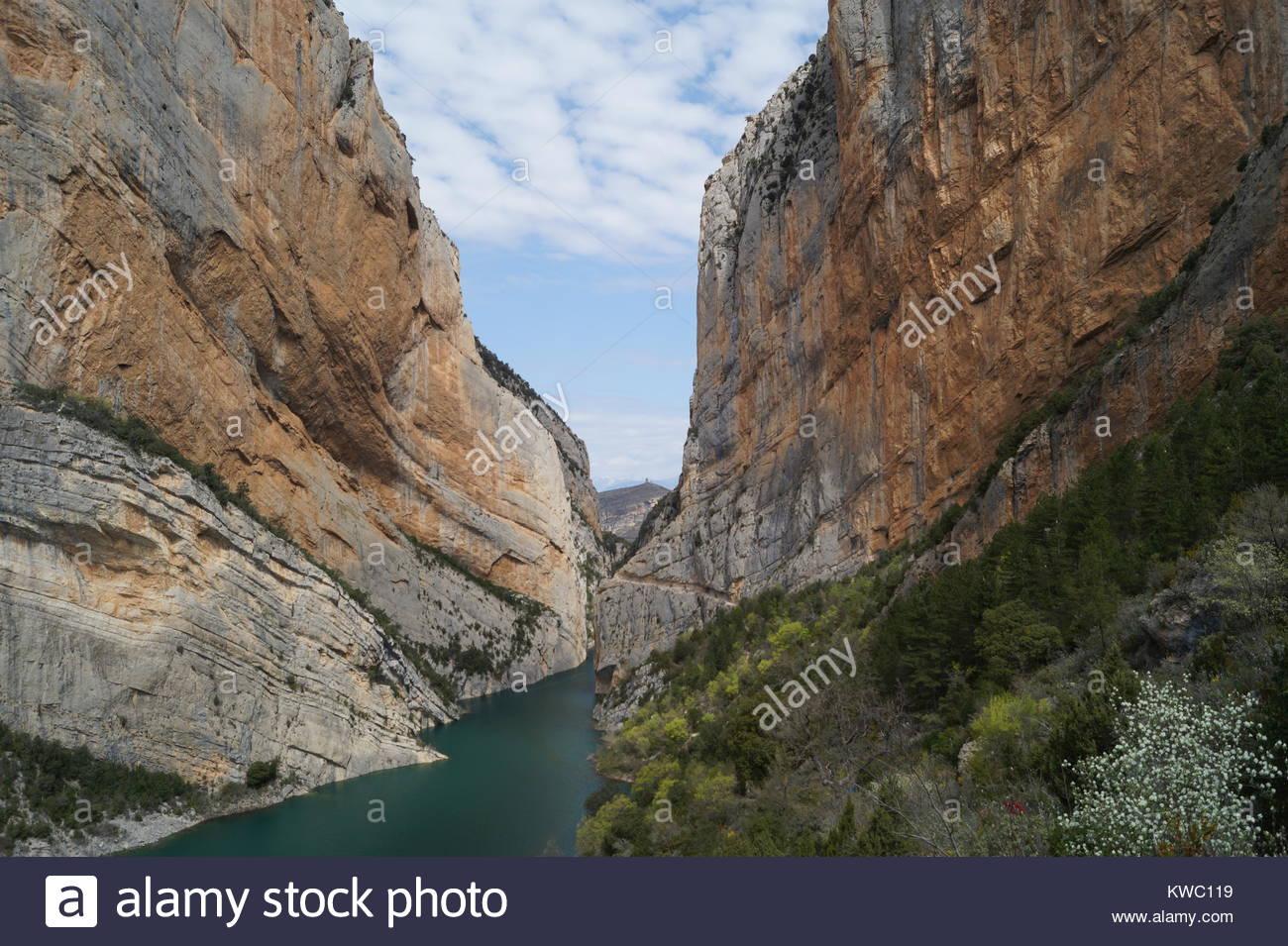 Congost de Mont-rebei - Desfiladero de Monrrebey - Stock Image