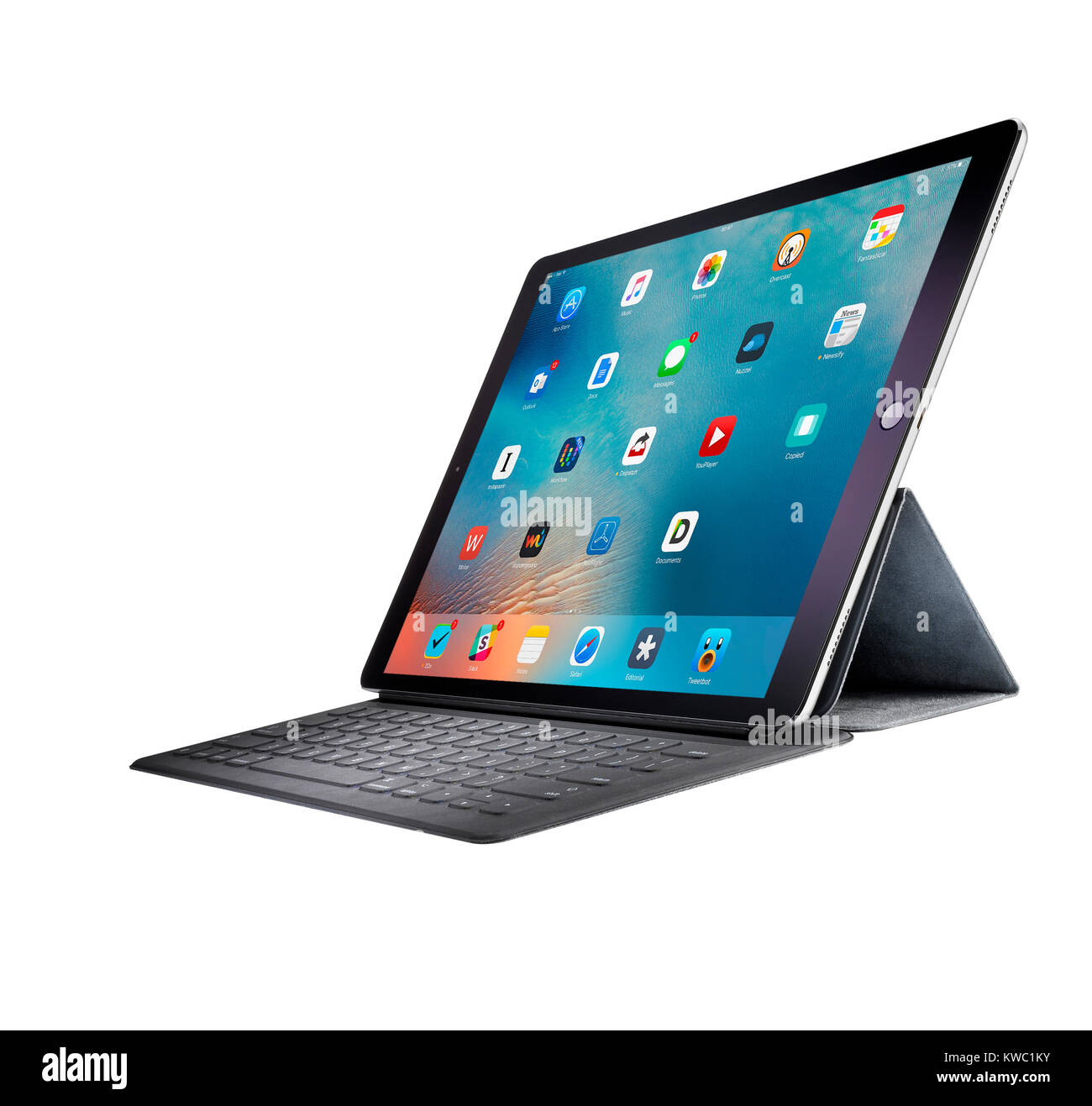 A cut out shot of an Apple iPad. - Stock Image