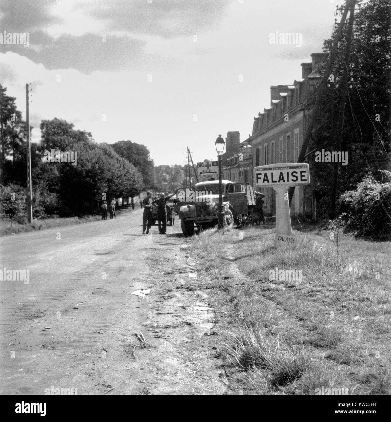 Battle of the Falaise Pocket from August 12-21, 1944 was the decisive Battle of Normandy. The German Army was destroyed - Stock Image