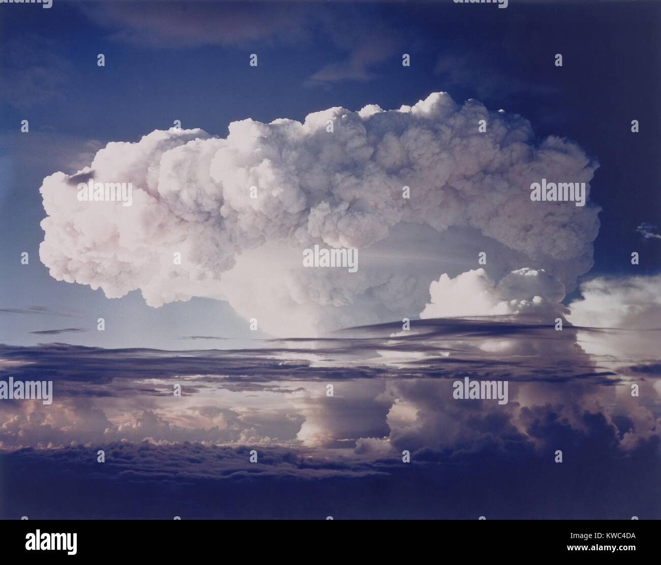 The MIKE shot was the first thermonuclear test, Nov. 1, 1952. The hydrogen bomb was part of Operation Ivy at the - Stock Image