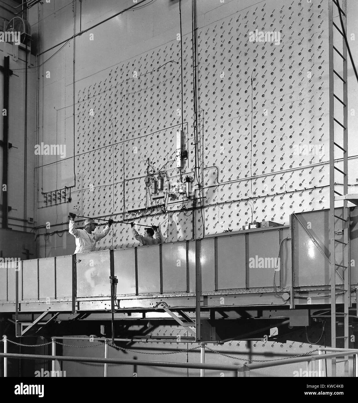 X-10 Graphite Reactor's was the world's second artificial nuclear reactor. Photo shows the x-10's concrete - Stock Image