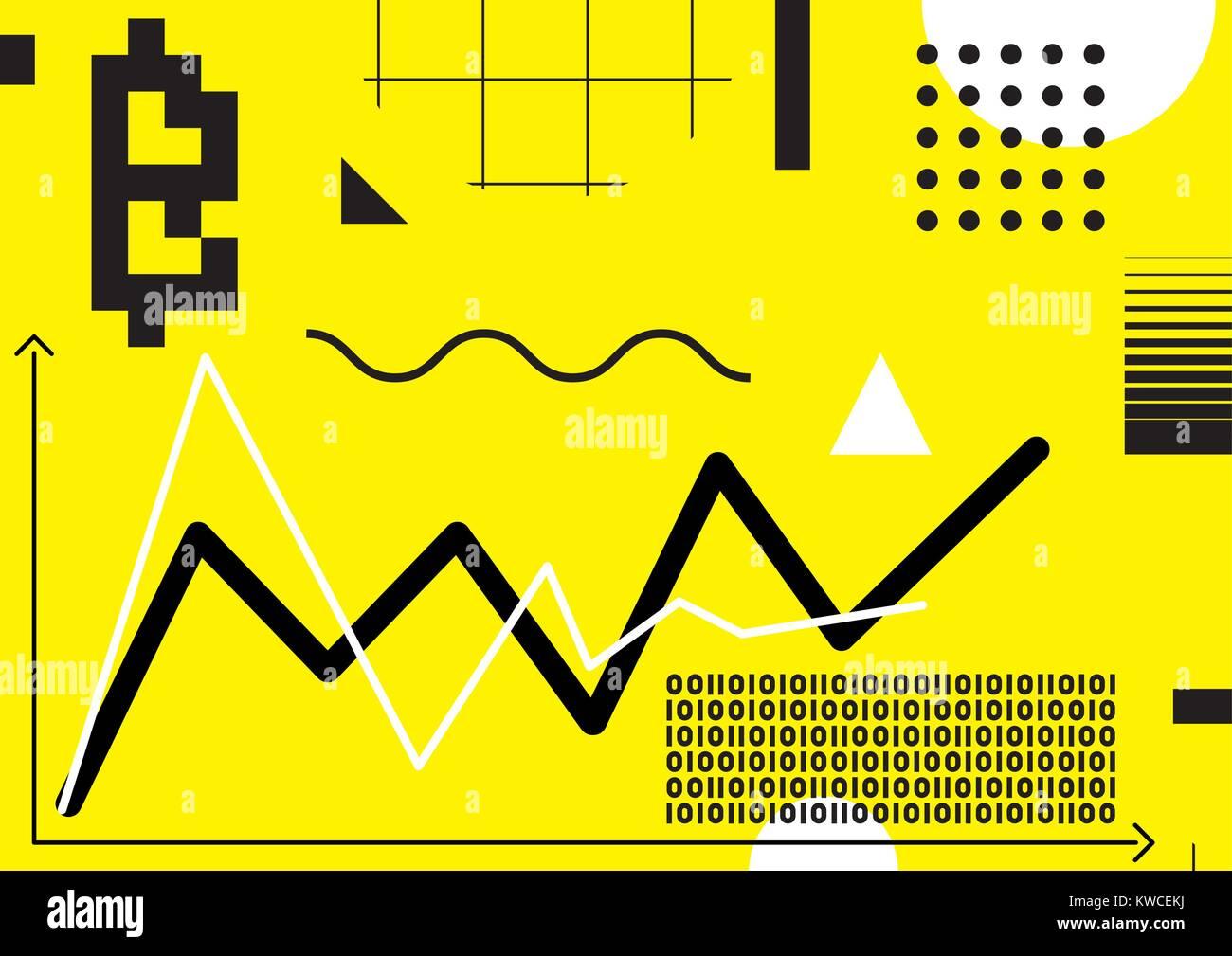 Typography horizontal banner for Blockchain - Stock Image