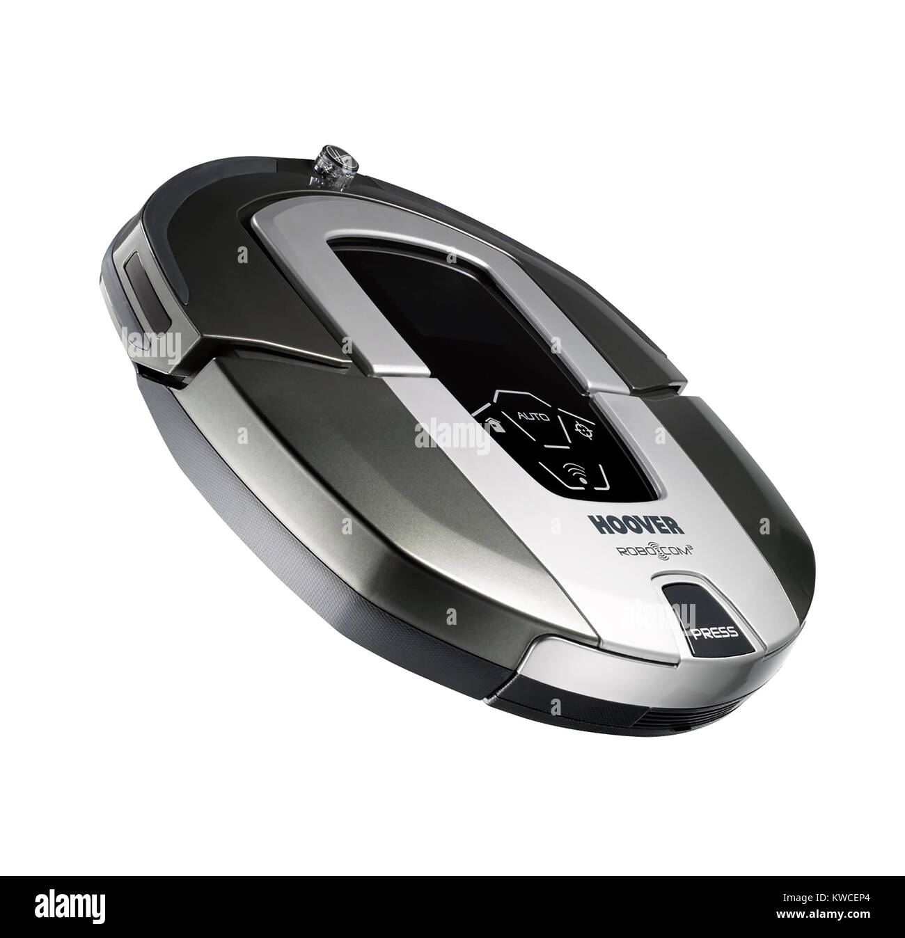 A cut out shot of a Hoover robotic self propelled vacuum cleaner - Stock Image