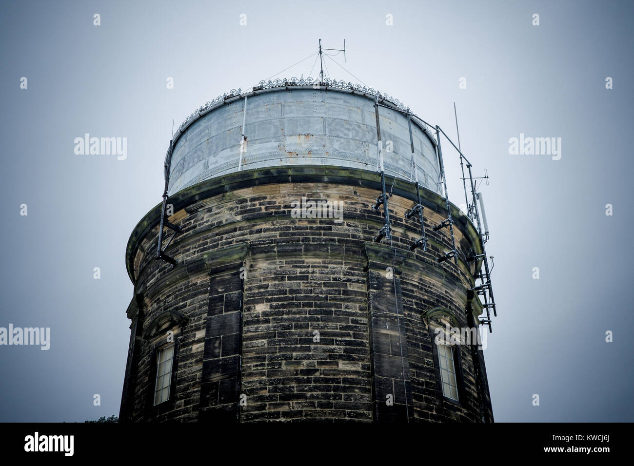 Water Tower - Harlow Hill, Harrogate, North Yorkshire, United Kingdom. Highest point in Harrogate overlooking the - Stock Image