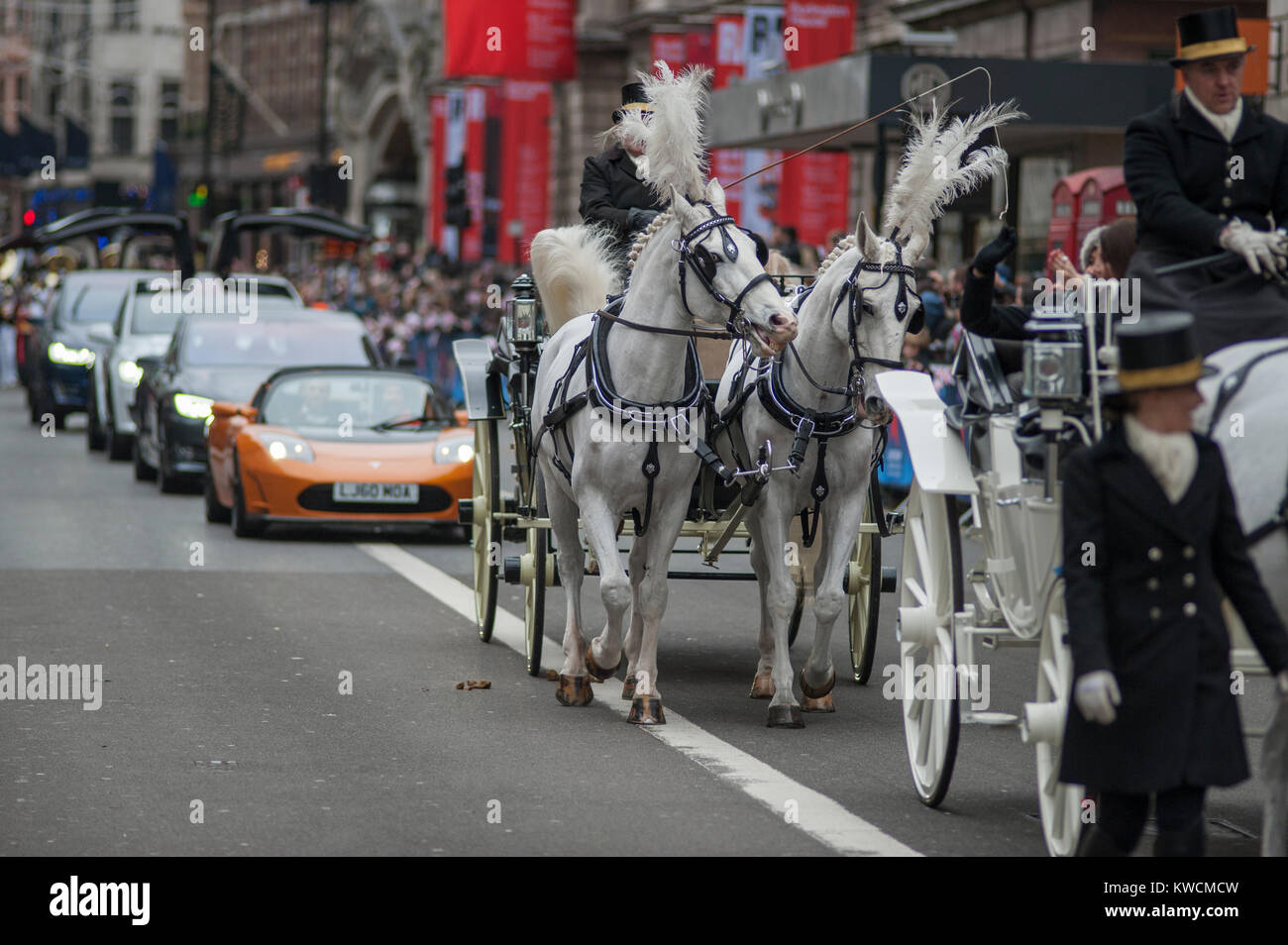 New Tesla Stock Photos Images Alamy Wire Harness Mayor Of Westminsters Coach And Cars In Piccadilly On 1 January 2018 At The London