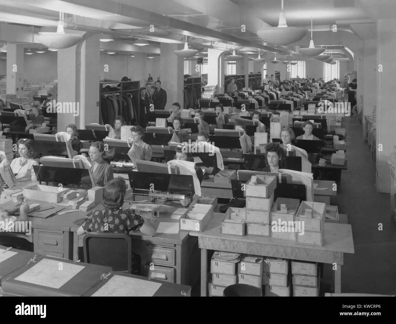 Women Working 1940s Stock Photos & Women Working 1940s Stock