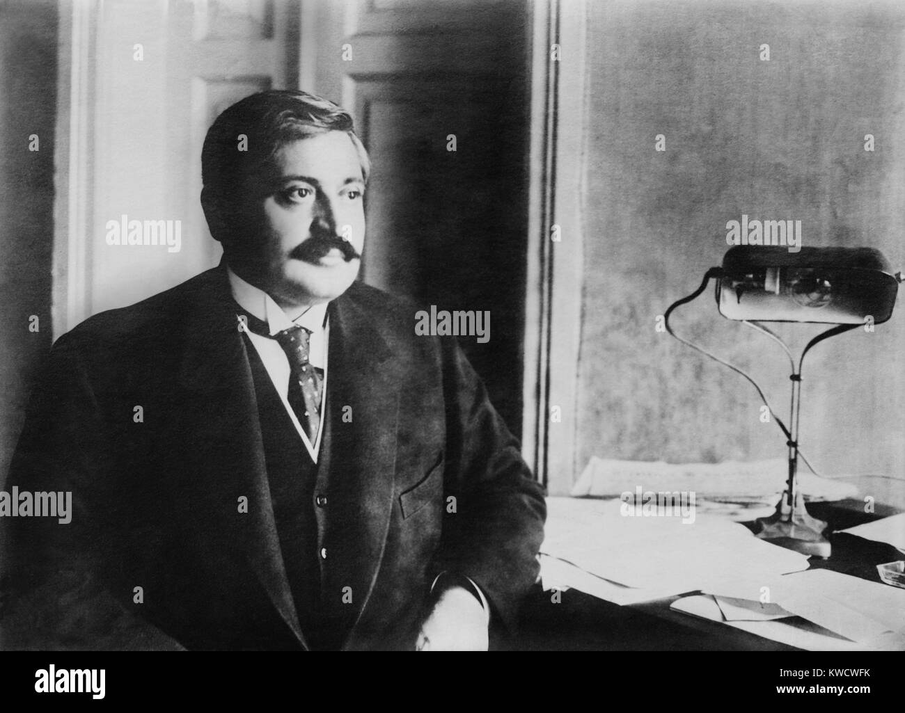 Mehmed Talaat Pasha, one of the Ottoman dictatorial triumvirate during World War 1. He was Minister of the Interior - Stock Image