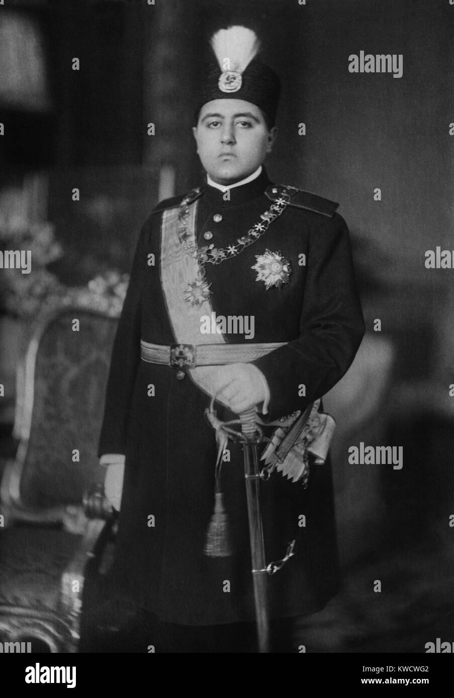 Ahmad Shah Qajar, the last Shah of the Qajar Dynasty that ruled Iran from 1796 to 1925 (BSLOC_2017_1_118) - Stock Image