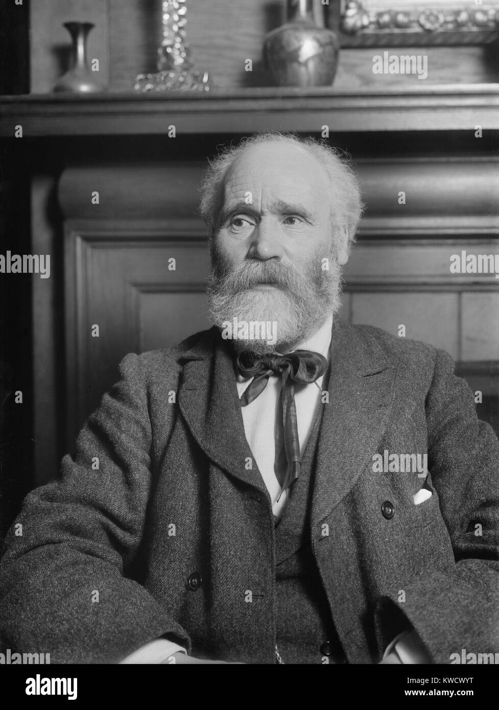 Scottish Keir Hardie served as a leftist member of Parliament from 1892-1895, 1900-1915. He was illegitimate son - Stock Image