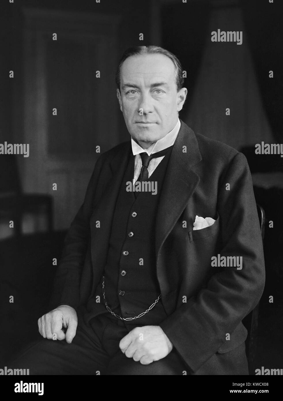 Stanley Baldwin, British Conservative Prime Minister, May 1923. He would be Prime Minister twice more in the 1920s - Stock Image