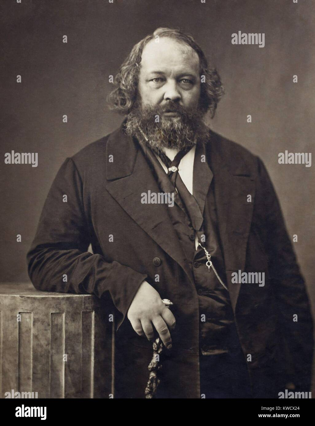 Russian born Mikhail Bakunin, was an exponent of revolutionary anarchism in 1860-70s. He was an associate of Marx - Stock Image