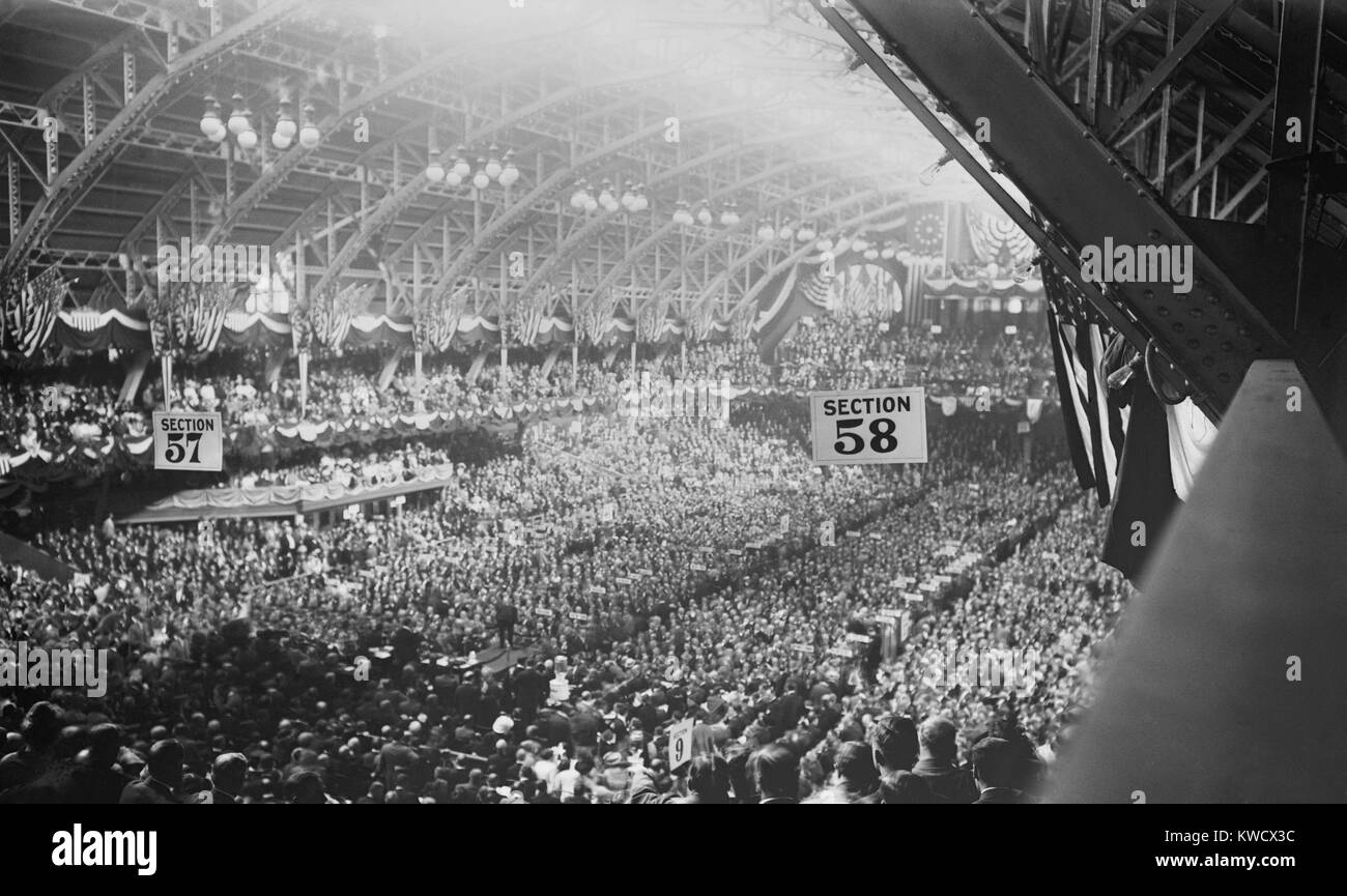 1912 Republican National Convention in session in Chicago Coliseum, Illinois, June 18-22. Roosevelt was the favorite - Stock Image
