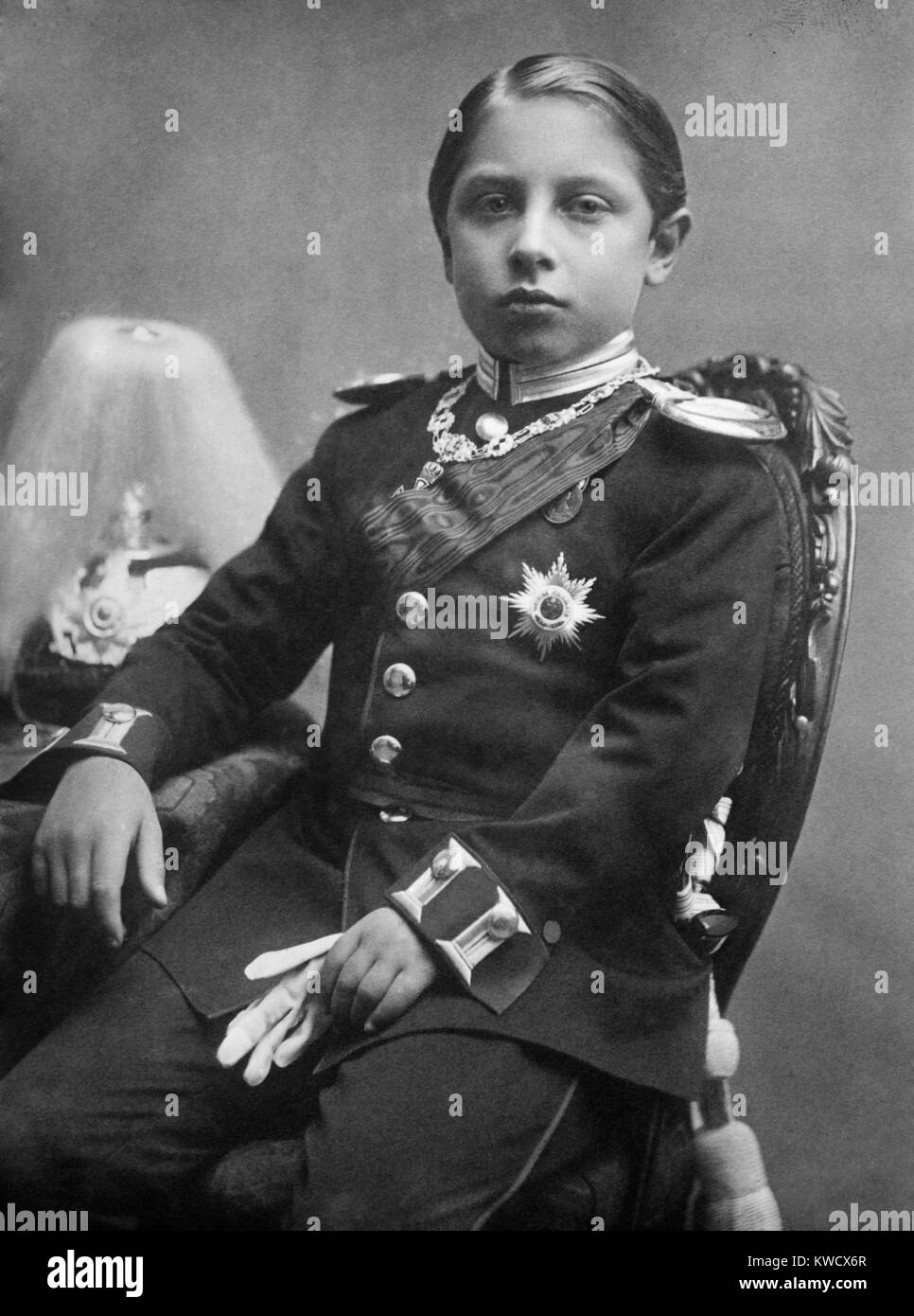 kaiser wilhelm ii as a 12 year old prince 1871 was the first born