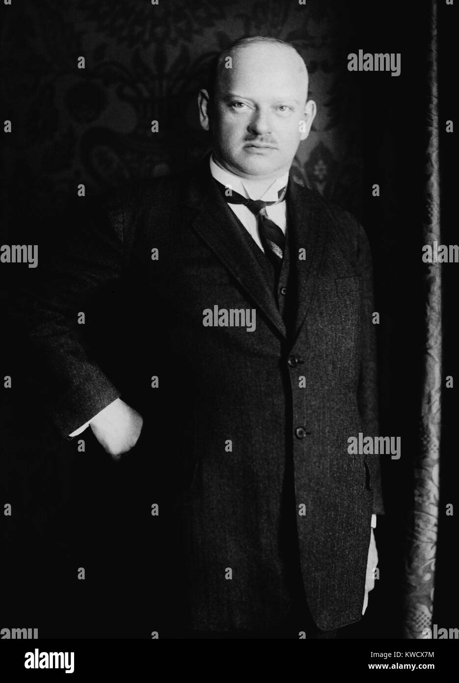 Gustav Stresemann, German liberal politician and statesman, served as Foreign Minister from 1923-29. Stresemann - Stock Image
