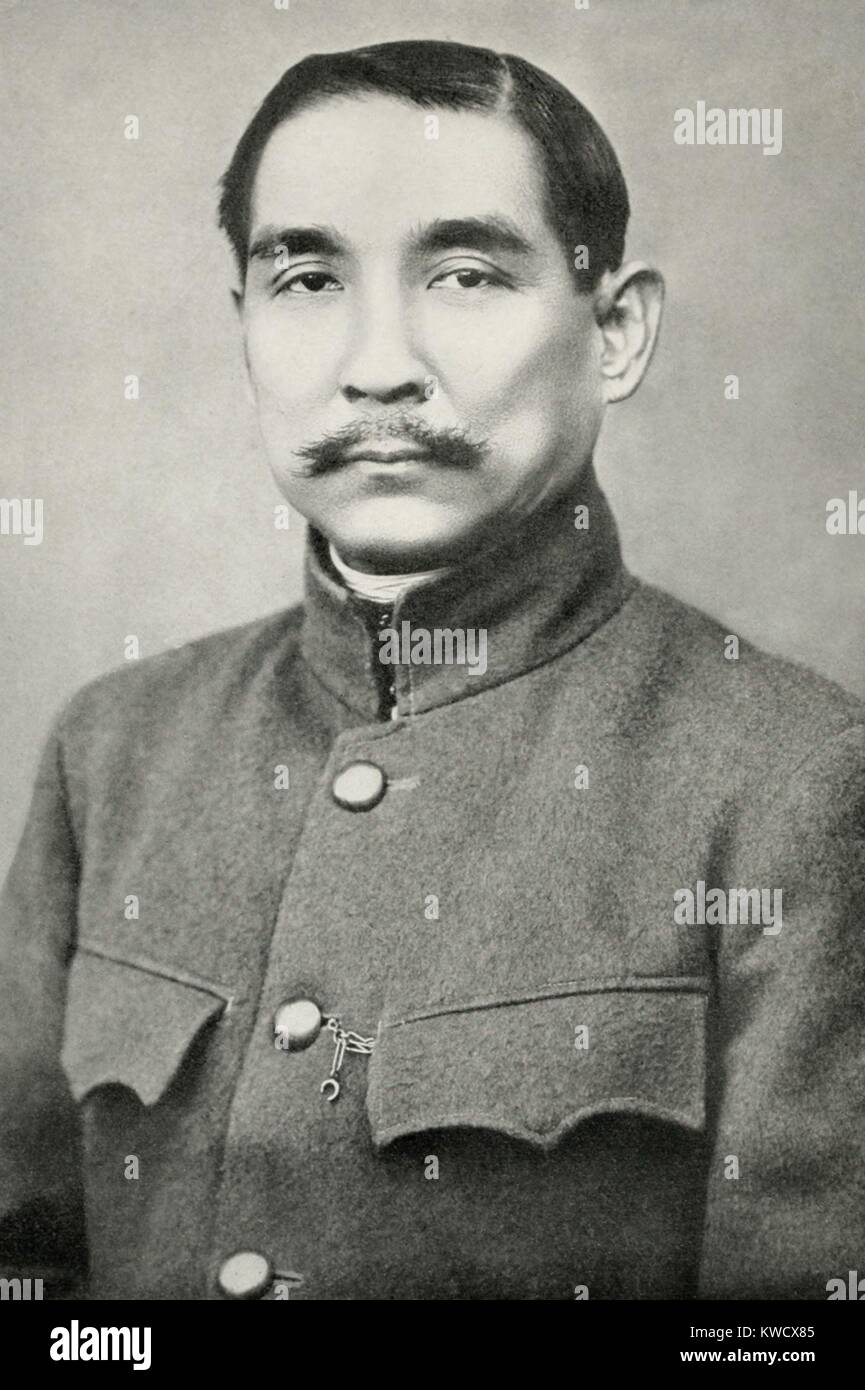 Sun Yat-sen, was the first Provisional Revolutionary President of the new Chinese Republic in 1912. He began his - Stock Image