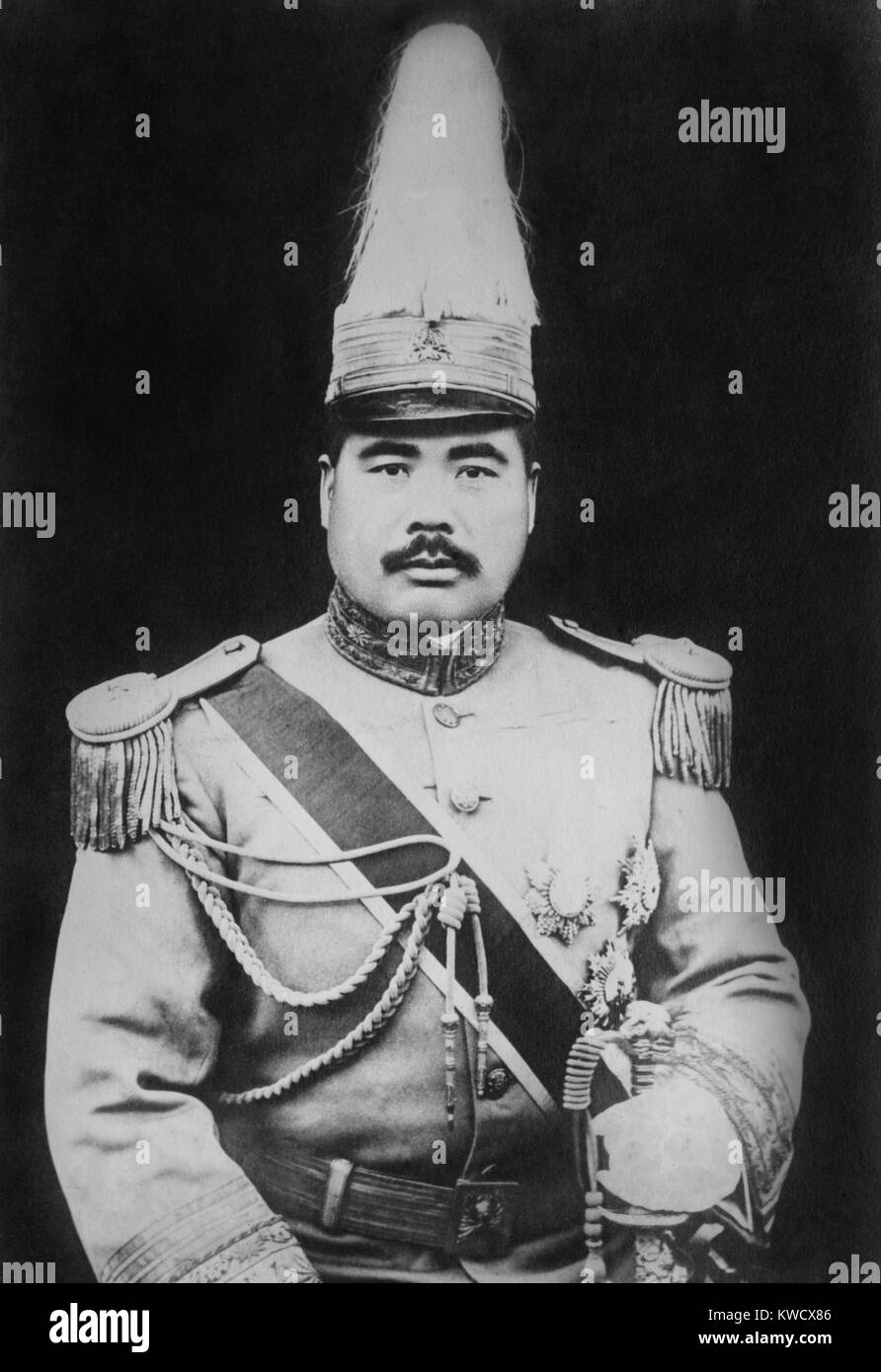 Feng Yuxiang, Chinese general against the Qing Dynasty in the Xinhai Revolution, 1911. As the most powerful Chinese - Stock Image