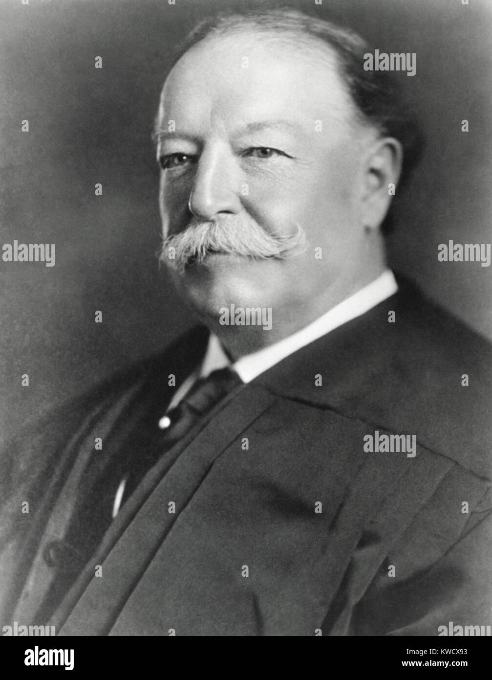 Former President William H. Taft, in judicial robes as Chief Justice of the Supreme Court, c. 1921 (BSLOC 2017 2 Stock Photo