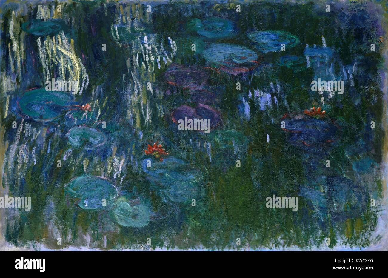 Water Lilies, by Claude Monet, 1916–19, French impressionist painting, oil on canvas. In his last decade, Monet - Stock Image