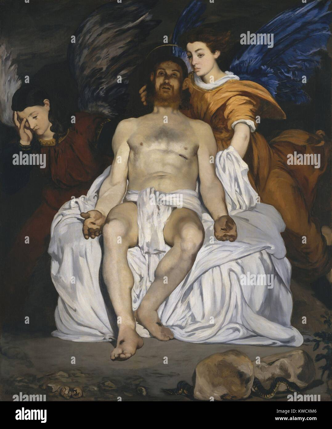 The Dead Christ with Angels, by Edouard Manet, 1864, French impressionist painting, oil on canvas (BSLOC 2017 3 Stock Photo