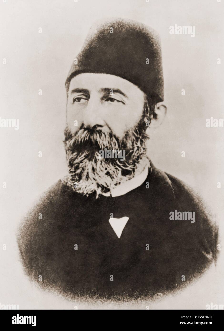Cemal Pasha was one of the Ottoman dictatorial triumvirate during World War 1. With Enver and Talaat, he was convicted - Stock Image